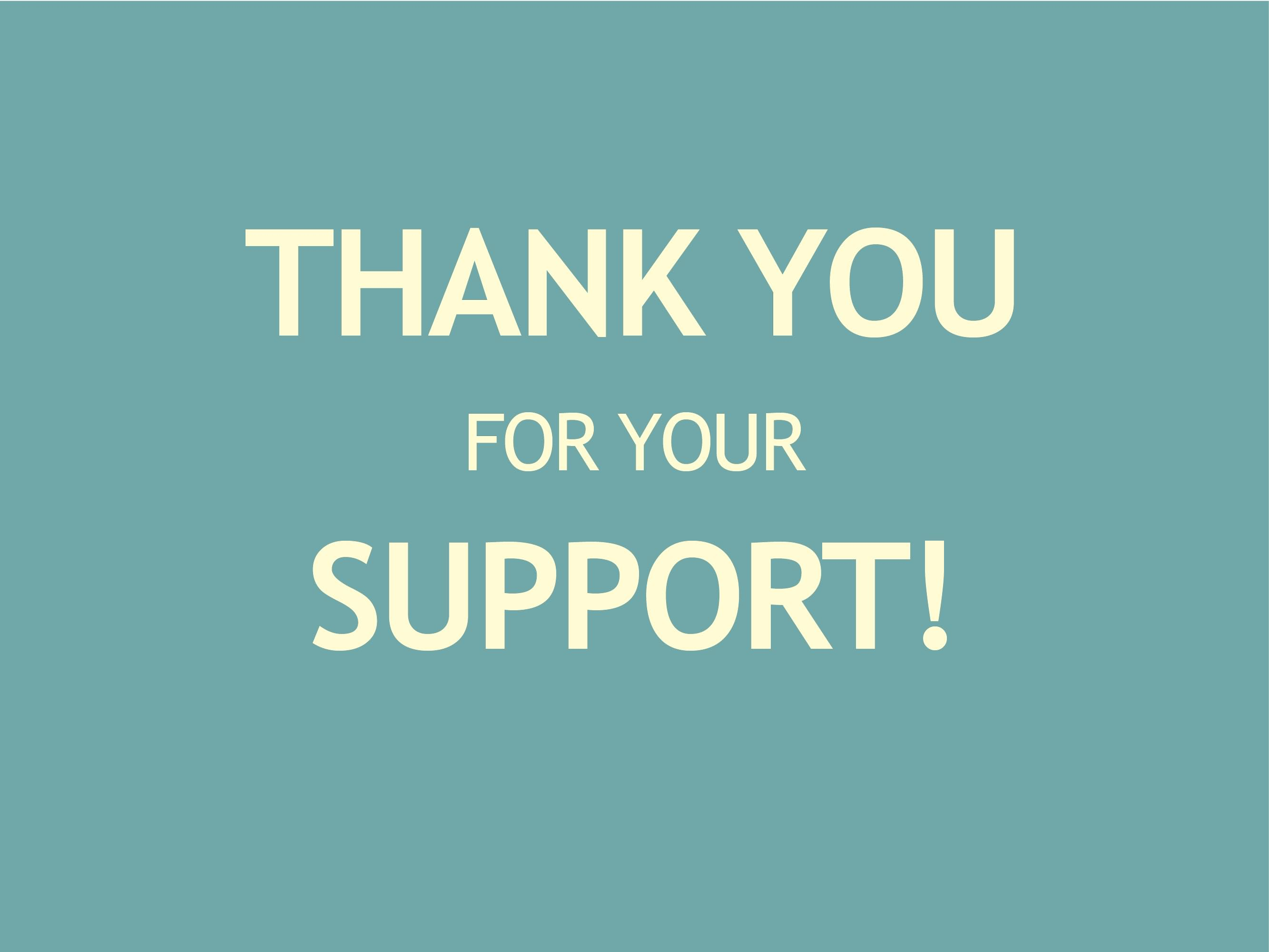thank you for your support graphic